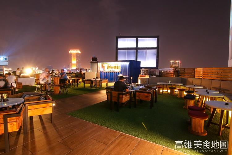 Hotel INDIGO高雄中央公園英迪格酒店 Pier No.1高空酒吧|高雄新興區美食